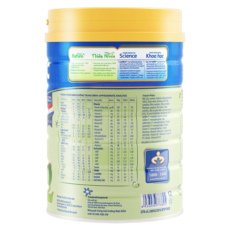 Thành phần sữa Frisolac Gold 2 900g