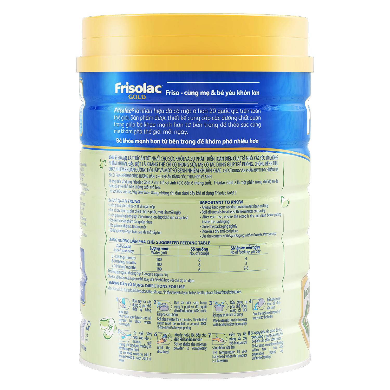 Lưu ý và hướng dẫn cách sử dụng sữa Frisolac gold 2