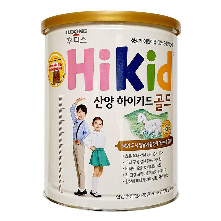 Sữa dê Hikid Hàn Quốc 700g cho bé 1-9 tuổi