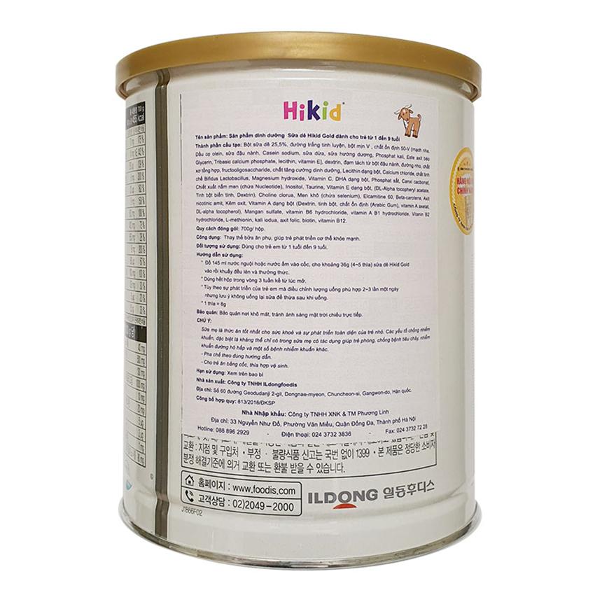 Thông tin về sữa dê Hikid Hàn Quốc