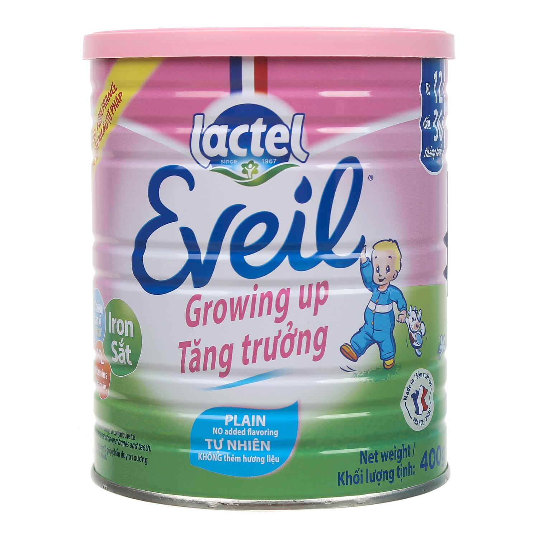 Sữa bột Lactel Eveil Growing up 400g