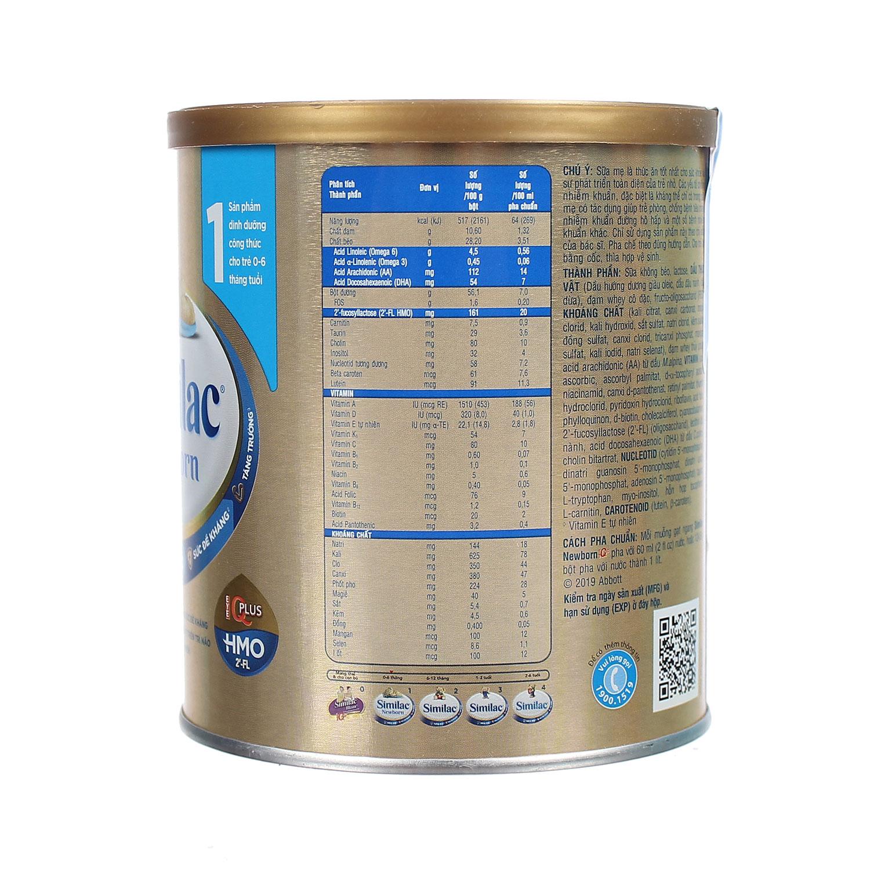 Sữa Similac IQ HMO Gold Lable Newborn 400g (0-6 tháng)