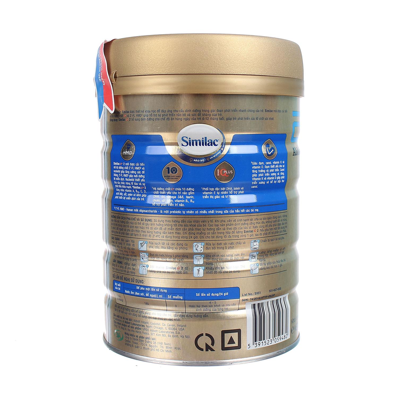 Sữa Similac IQ HMO Gold Lable số 2 900g