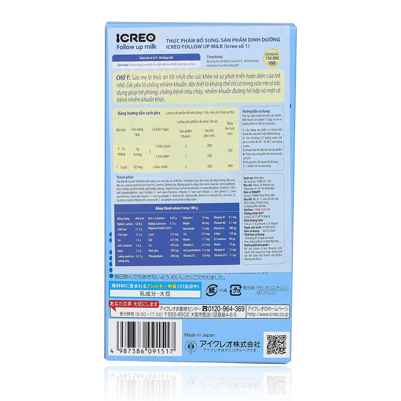Hướng dẫn pha sữa Glico số 1