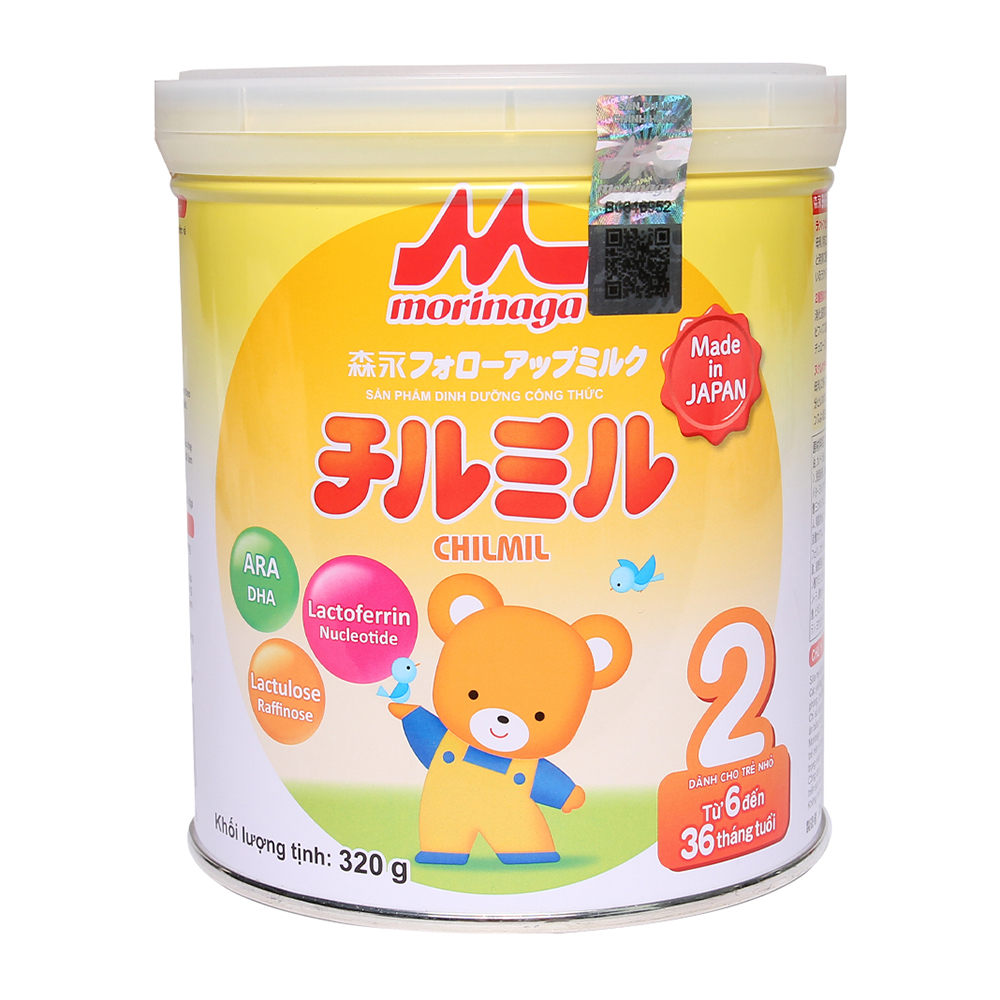 Sữa Morinaga Chilmil số 2 320g cho bé 6-36 tháng tuổi