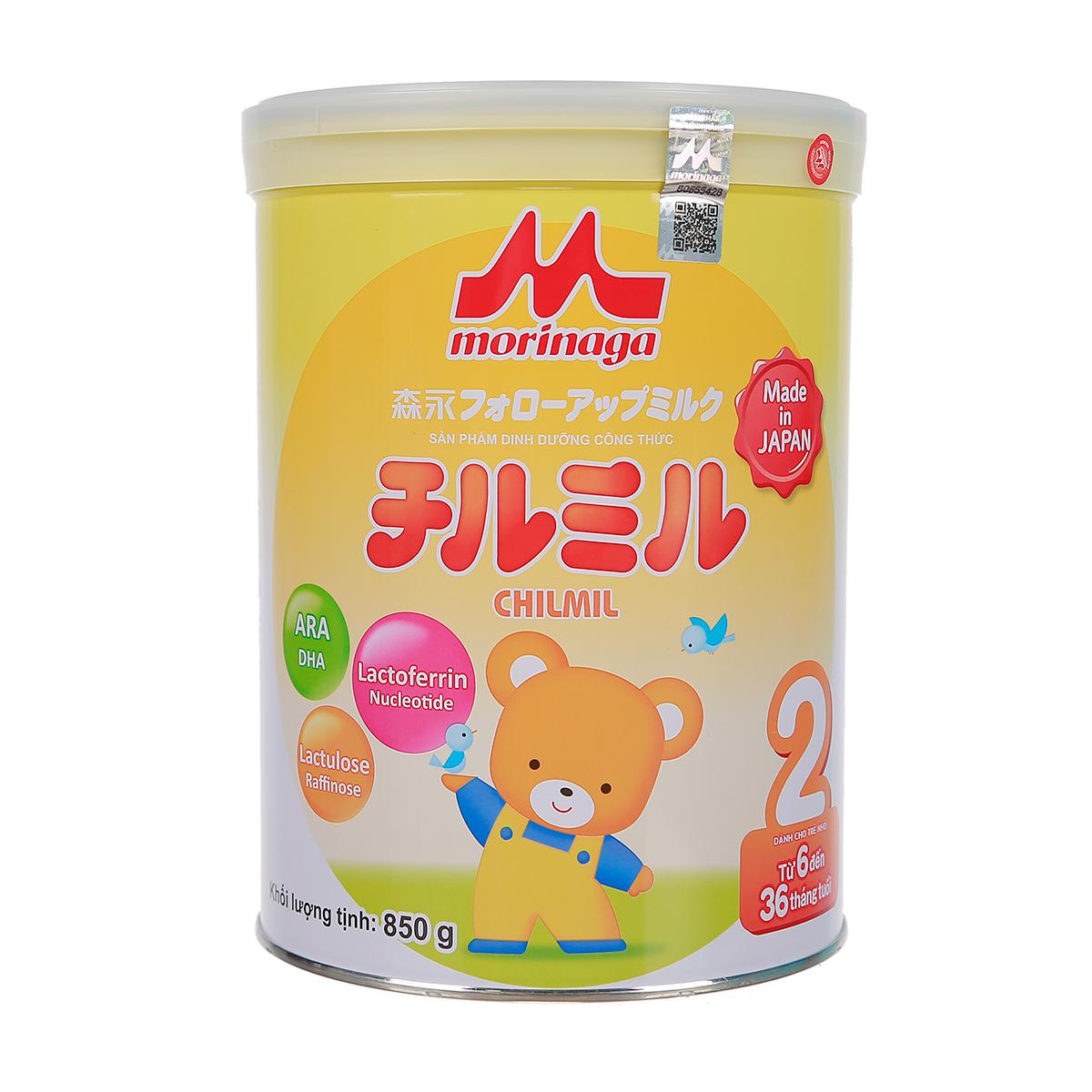 Sữa Morinaga Chilmil số 2 850g