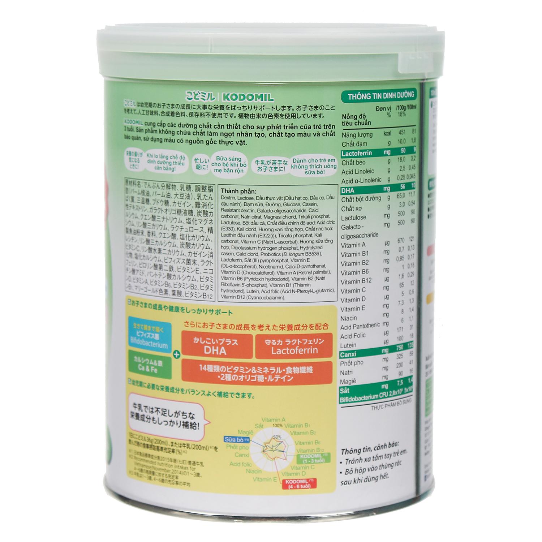 Thành phần có trong sữa bột Morinaga số 3 hương vani
