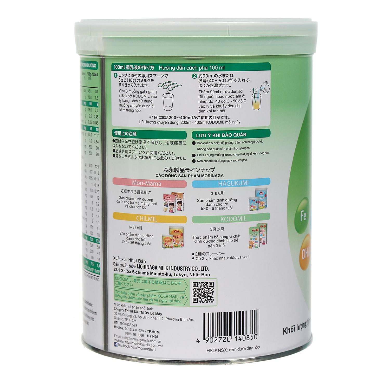 Pha và bảo quản sữa bột Morinaga số 3