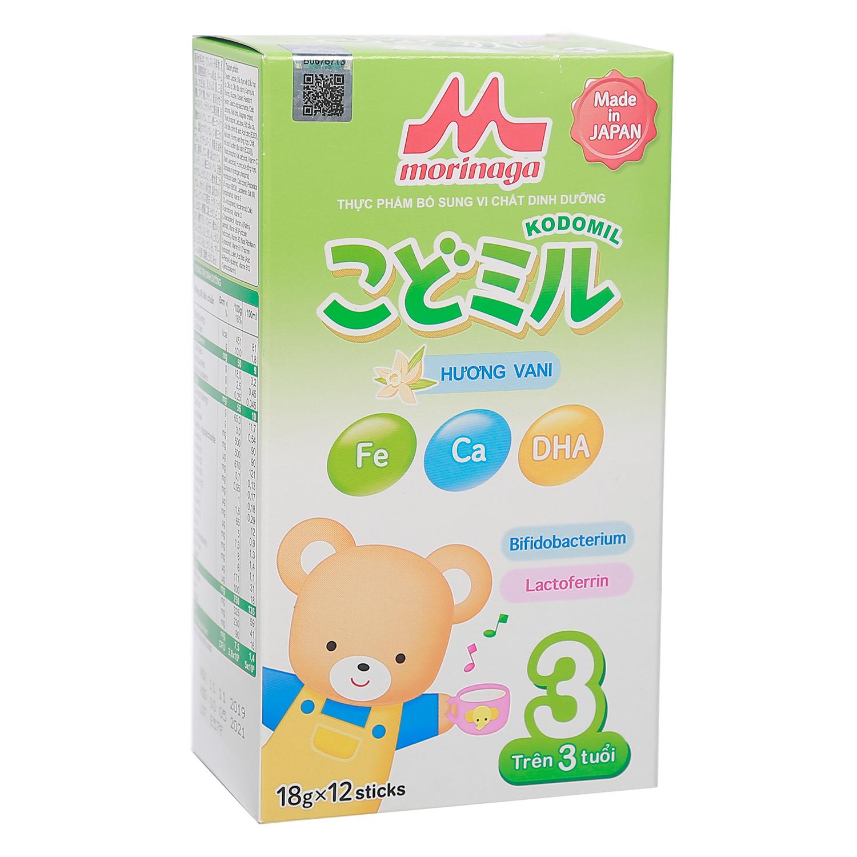 Sữa thanh Morinaga số 3 cho bé trên 3 tuổi