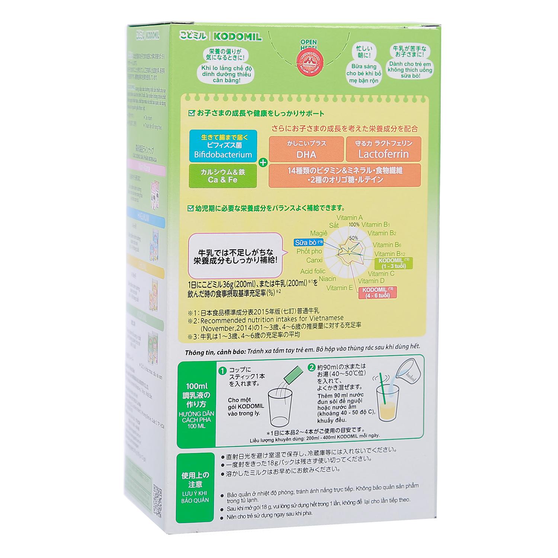Hướng dẫn pha sữa thanh Morinaga số 3 hương vani