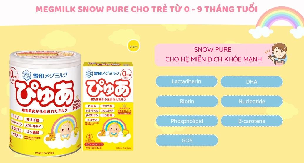 Sữa SnowBaby của Nhật cho bé