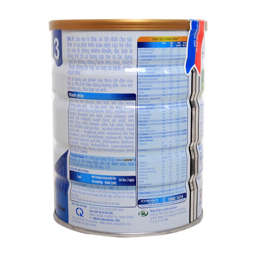 Thành phần dinh dưỡng có trong sữa Abbott Grow 3