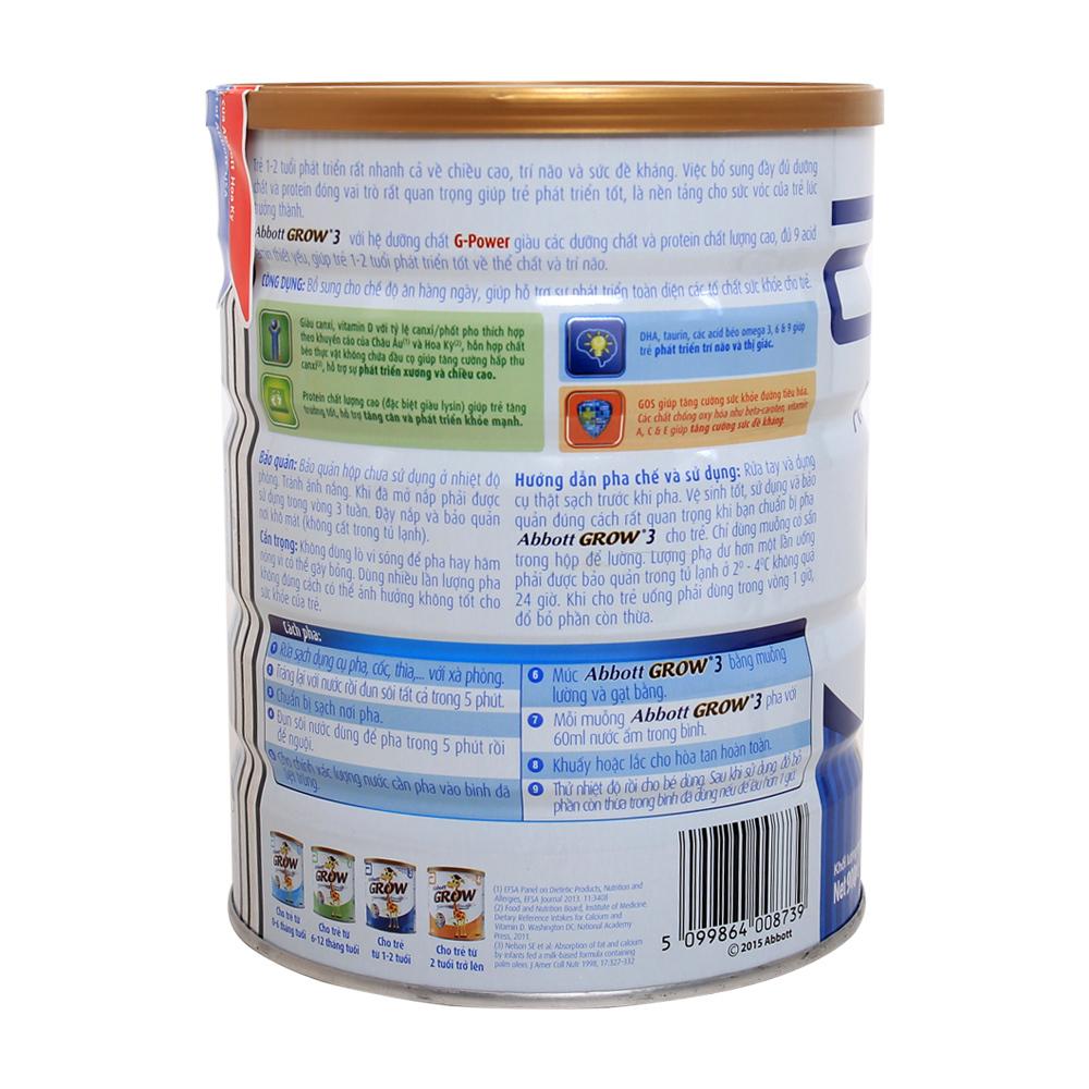 Hướng dẫn sử dụng và cách pha sữa Abbott Grow số 3