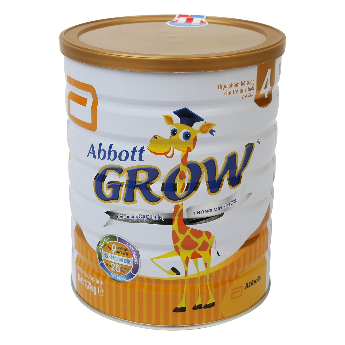 Sữa Abbott Grow 4 hương vani 1.7kg