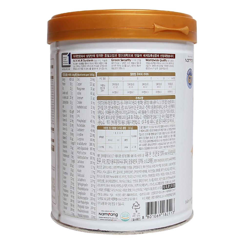 hành phần chính của sản phẩm sữa XO số 3 800g