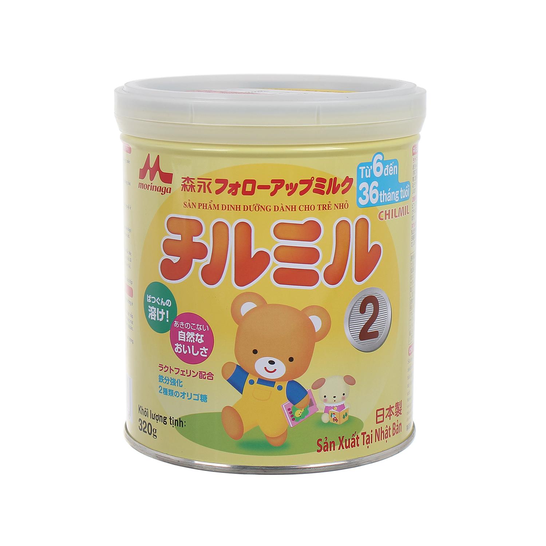 Sữa Morinaga Chilmil số 2 320g cùng bé yêu khôn lớn mỗi ngày