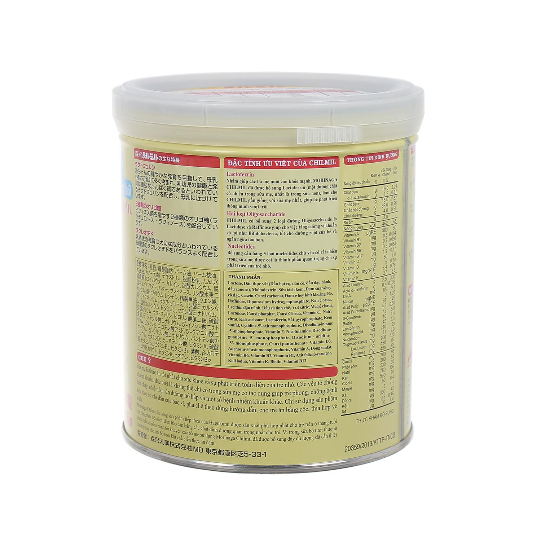 Lưu ý bảo quản sữa Morinaga Chilmil số 2