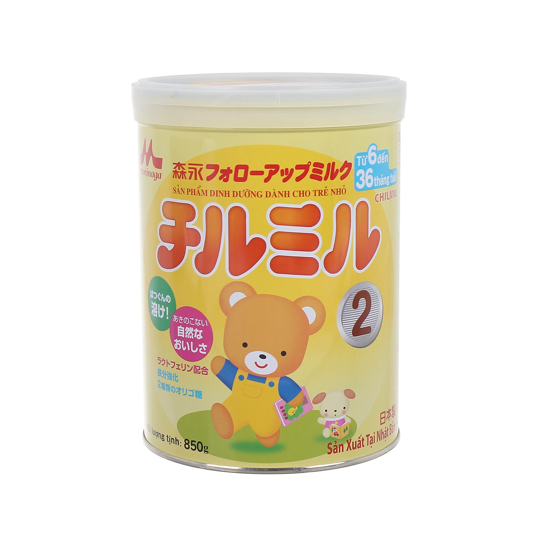 Sữa Morinaga Chilmil số 2 850g dành cho bé từ 6 tháng tới 3 tuổi