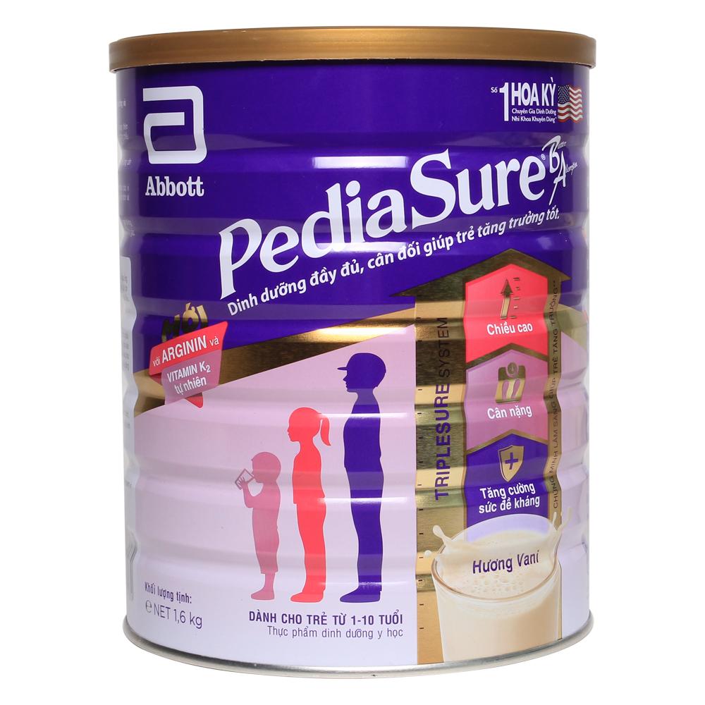 Sữa bột PediaSure 1600g vị vani
