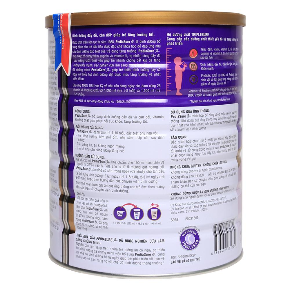 Hướng dẫn cách pha sữa cho bé PediaSure BA 1,6kg