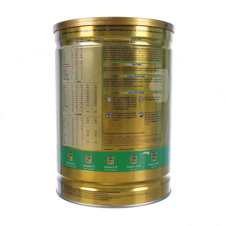 Thành phần và hướng dẫn cách pha sữa Enfagrow A+ 4 1750g