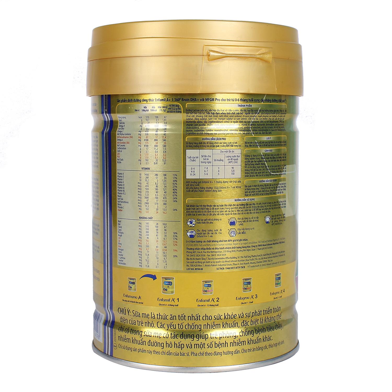 Sữa Enfamil A+ 1 360° Brain DHA+ với MFGM PRO 870g Vị Vani (0 - 6 tháng)