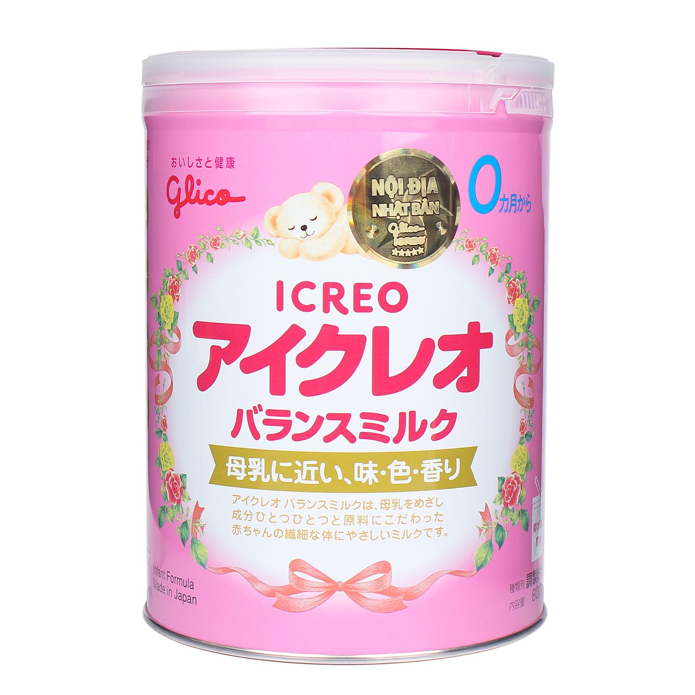 Sữa bột Glico Icreo số 0 800g cho bé khỏe mạnh