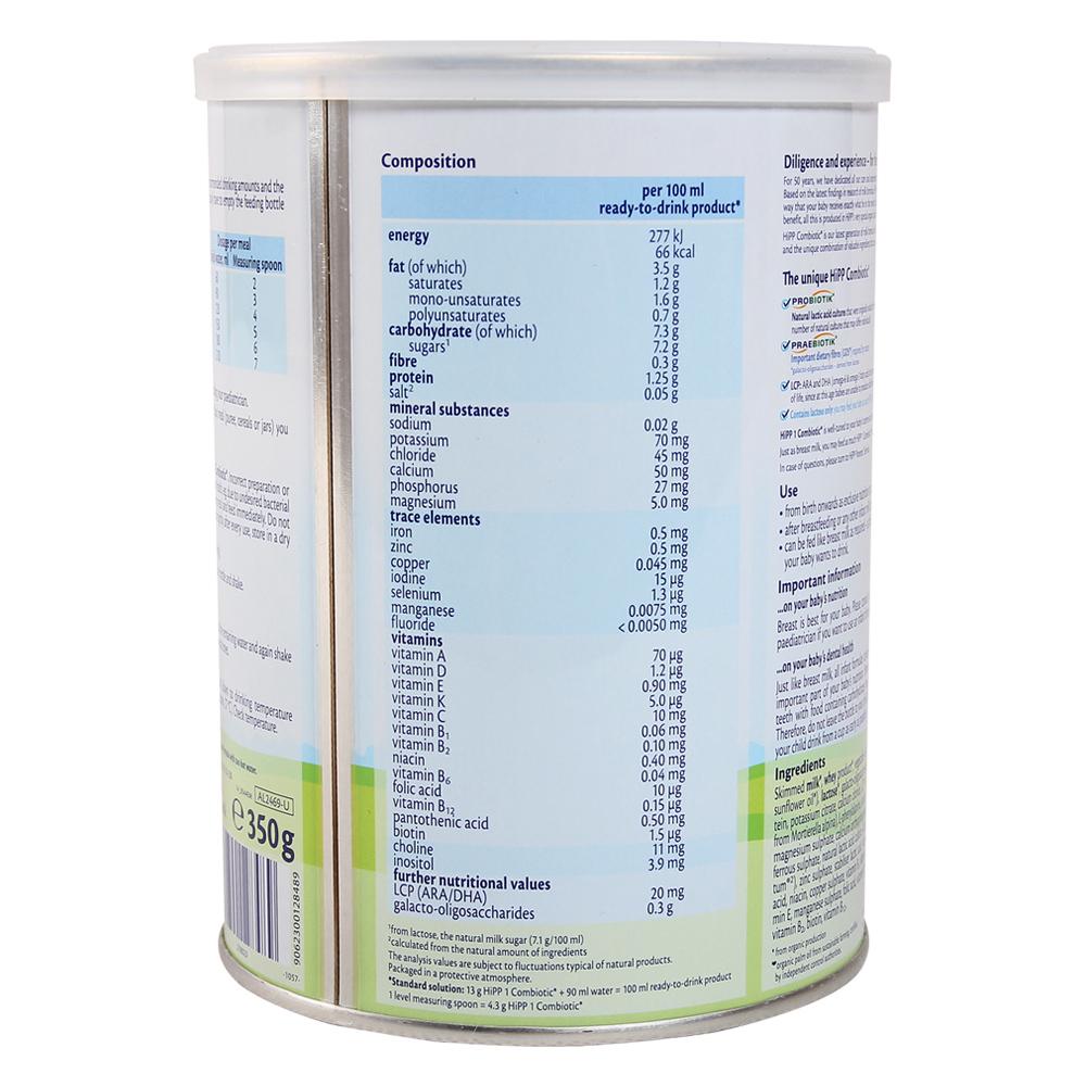 sữa hipp số 1 cho trẻ sơ sinh