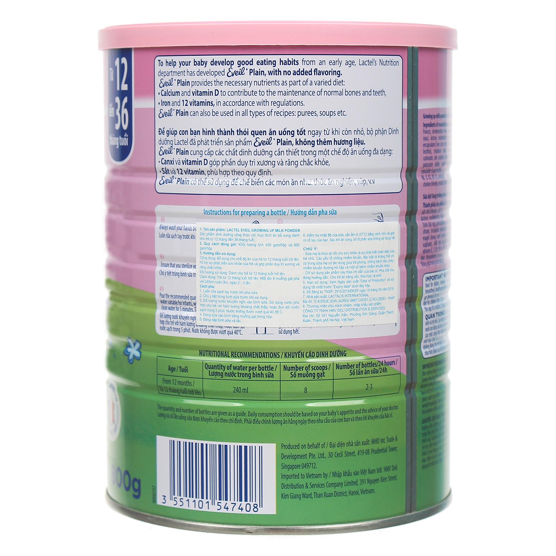 Sữa bột Lactel Eveil Growing Up Milk Powder 800g
