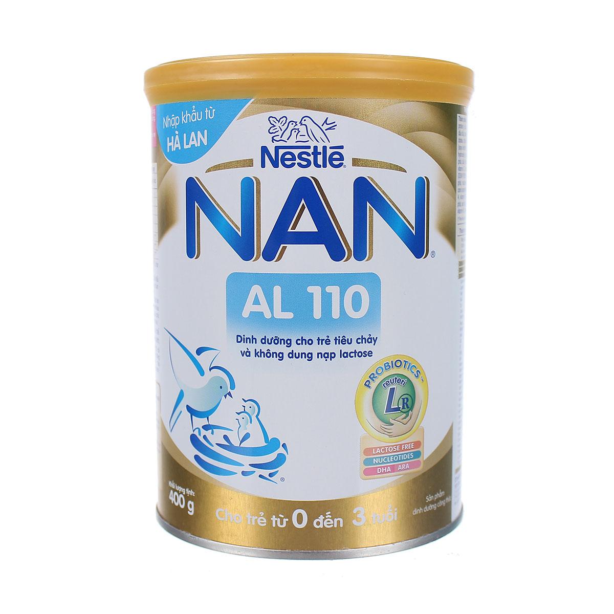 sữa nan al 110 cho trẻ tiêu chảy