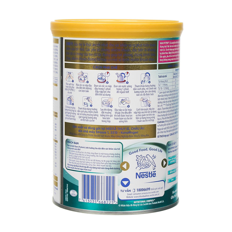 Sữa Nan Optipro 2 400g dành cho bé từ 6 - 12 tháng