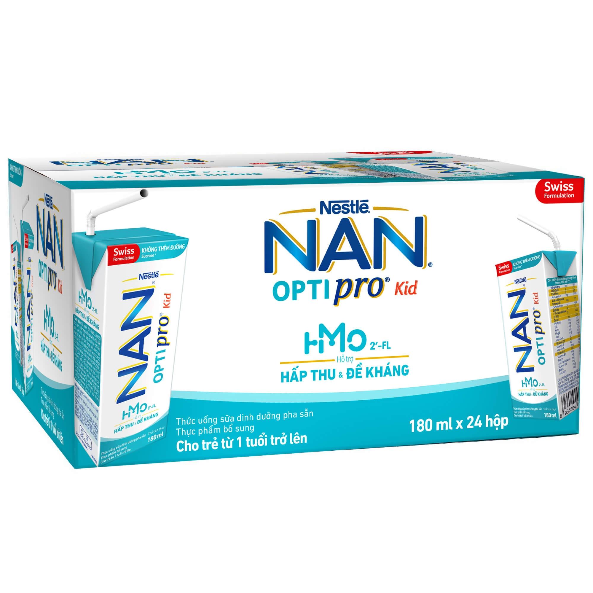 Sữa Nan pro HMO 4x180ml cho bé trên 1 tuổi