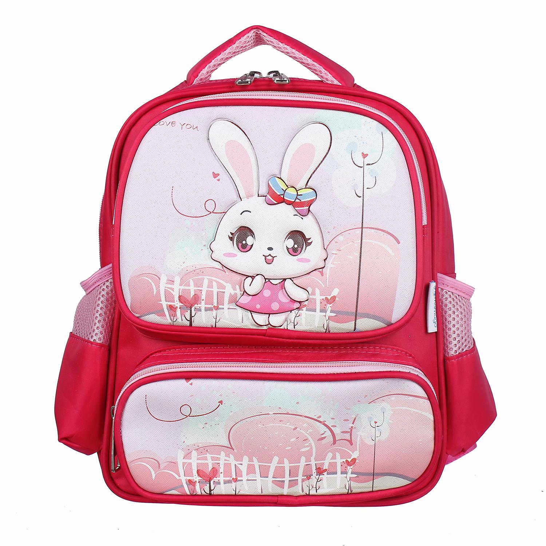 """Balo cho bé gái Mamago in thỏ Rabbit 82080 12"""" ngộ nghĩnh, đáng yêu"""
