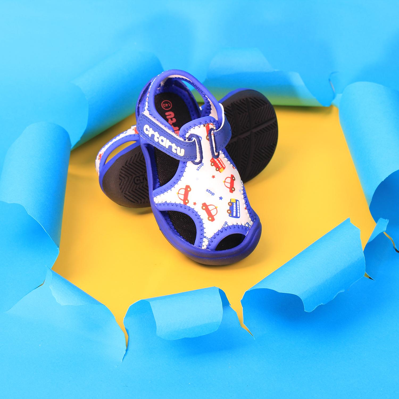 Dép Sandal Thời Trang Cao Cấp Cho Bé Crtartu XBI1-B họa tiết đáng yêu