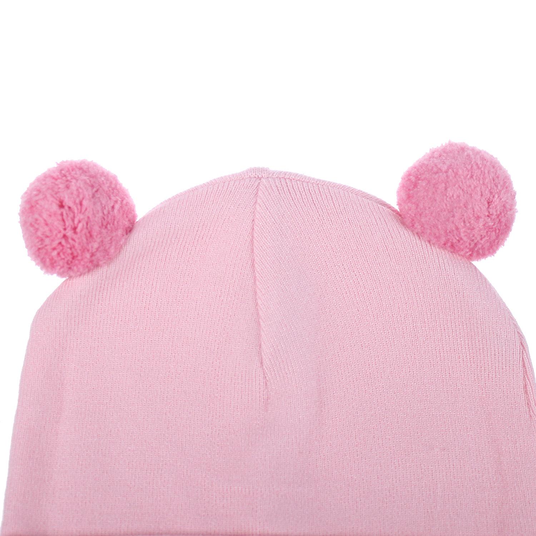 Set khăn mũ len Mamago NĐ19D (Hồng)