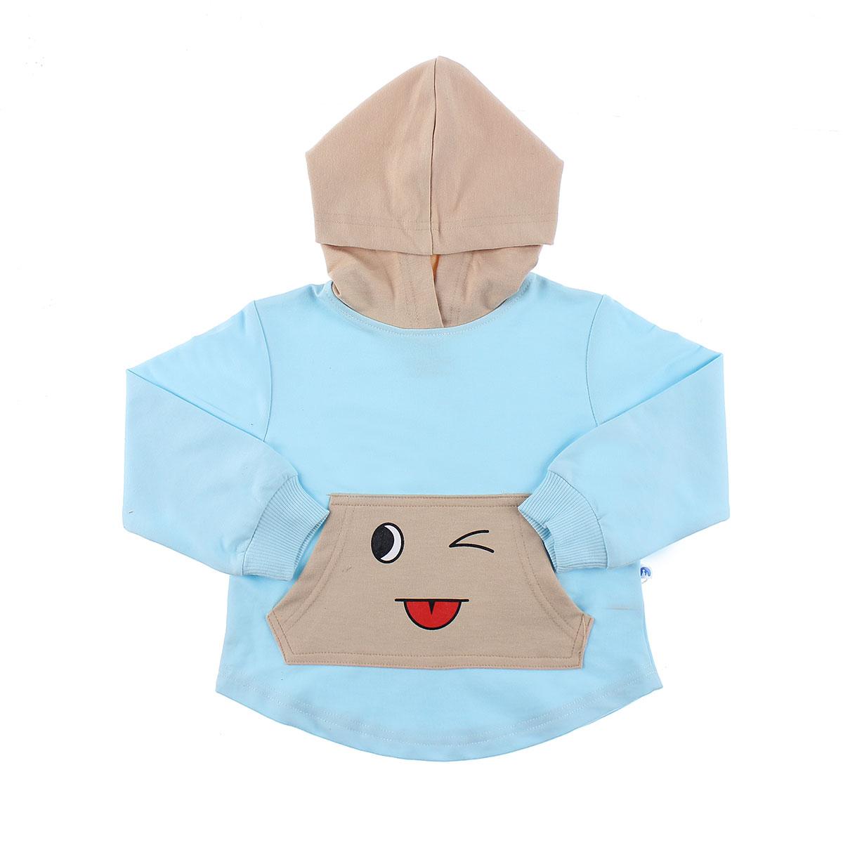 Bộ đồ da cá có mũ in mắt Mamago HT19D cho bé trai (Xanh)
