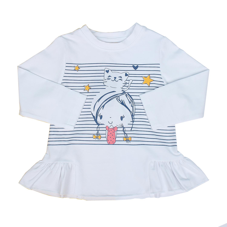 Bộ quần áo bé gái in em bé đội mèo Mamago M19T
