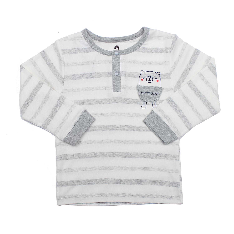 Bộ quần áo thời trang bé trai bo trụ Mamago HN19T kẻ ghi chất liệu an toàn