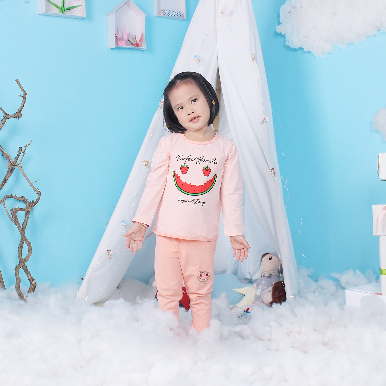 Quần áo thời trang bé gái Mamago in hình miếng dưa hấu LN19T