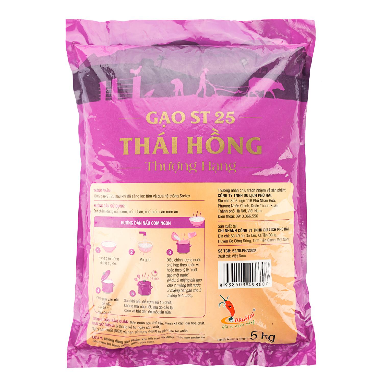 Cách chế biến gạo ST25 Thái Hồng thượng hạng túi 5kg