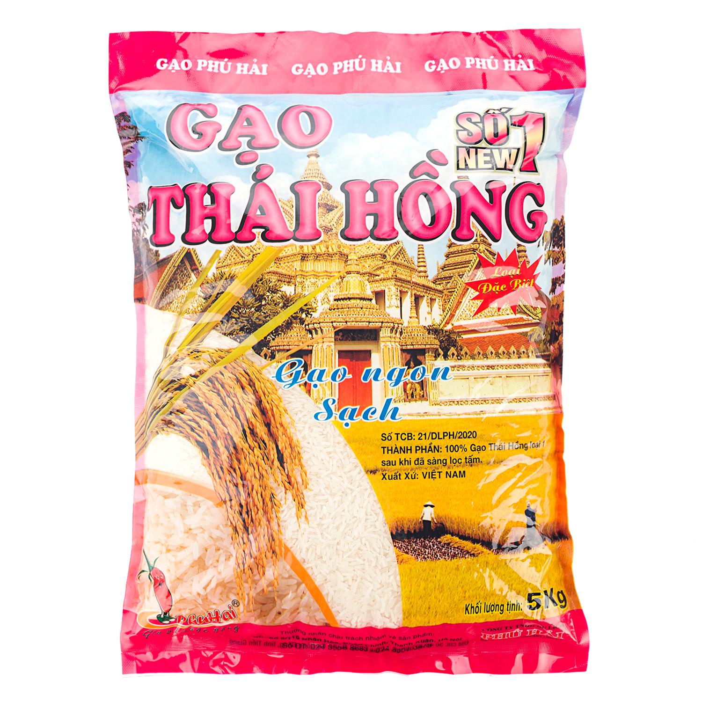 Gạo Thái Hồng số 1 New Phú Hải túi 5kg