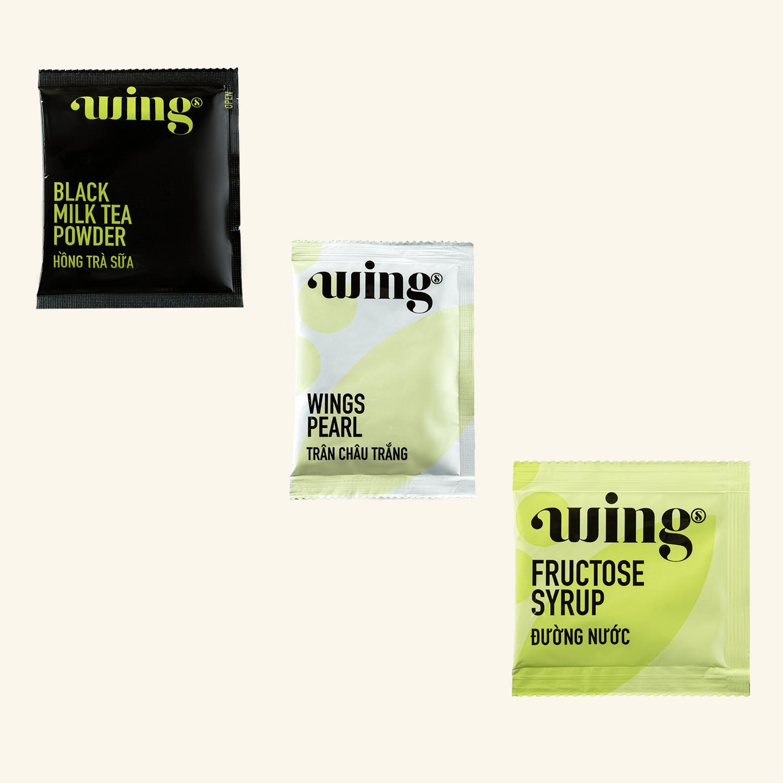 Hồng trà sữa Wings dạng cốc 107g