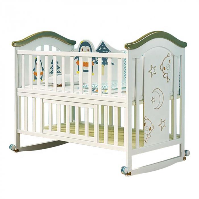 Set giường cũi gỗ cho bé KidsPlaza 4in1