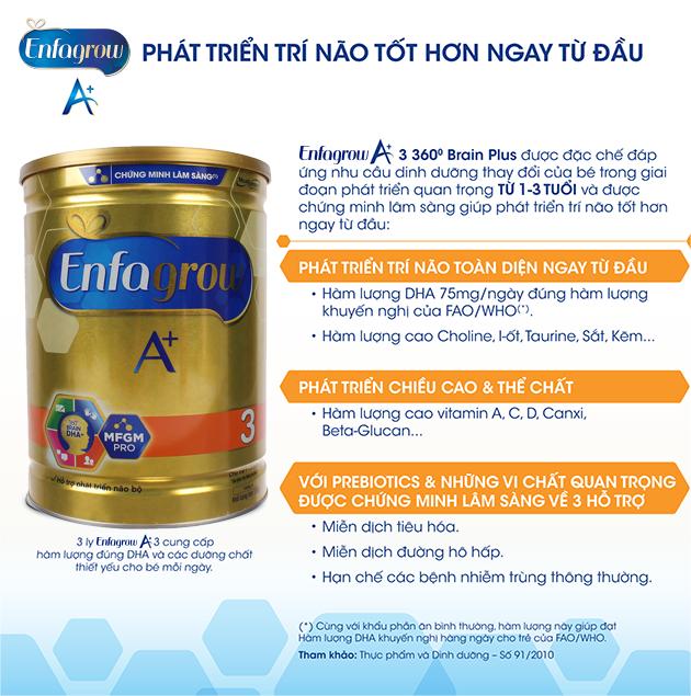Sữa Enfa có những dòng sản phẩm nào?