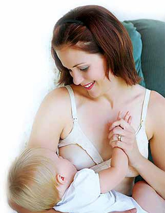 Áo lót ngực màu trắng Canpol A80 26/752 thiết kế thông minh