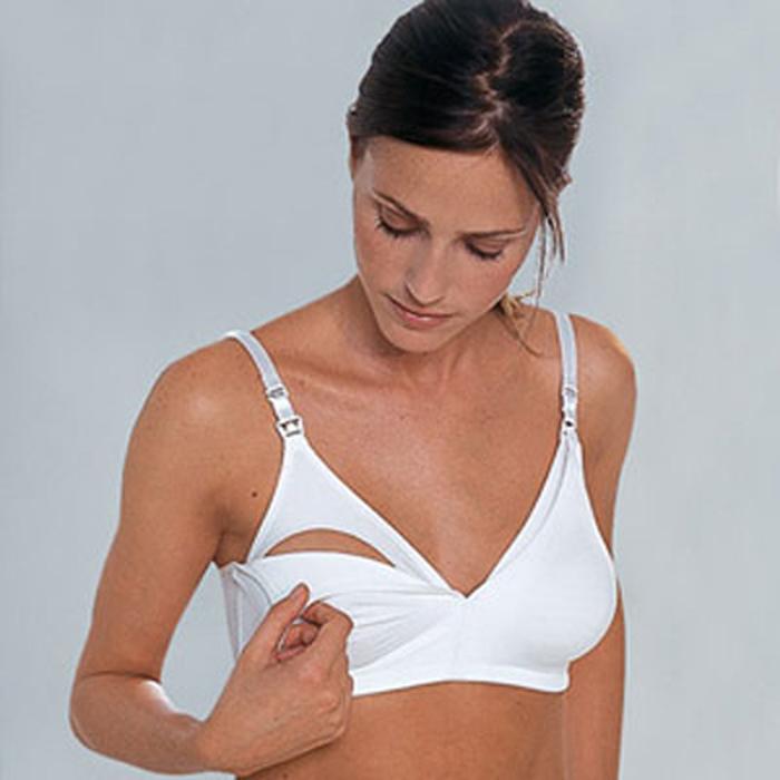 Áo lót ngực màu trắng Canpol A80 26/752 chất liệu an toàn